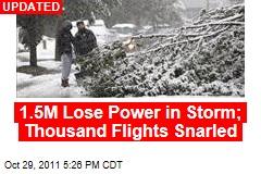 Rare Snowstorm Hits New York, Mid-Atlantic States