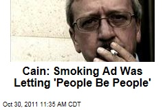 Herman Cain: Mark Block Smoking Ad Was Letting 'People Be People'