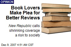 Book Lovers Make Plea for Better Reviews
