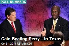 Herman Cain Beating Rick Perry—in Texas
