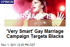 'Very Smart' Gay Marriage Campaign Targets Blacks