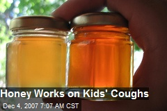 Honey Works on Kids' Coughs