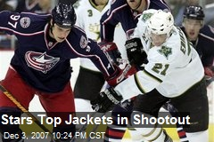 Stars Top Jackets in Shootout