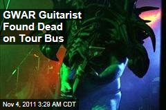 GWAR Guitarist Cory Smoot Found Dead on Tour Bus