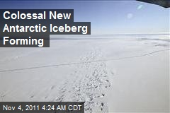 Colossal New Antarctic Iceberg Forming