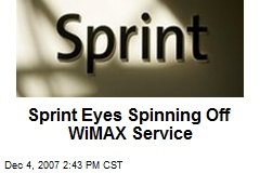 Sprint Eyes Spinning Off WiMAX Service