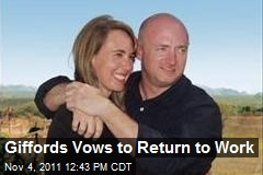 Giffords Vows to Return to Work