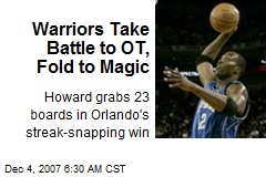 Warriors Take Battle to OT, Fold to Magic