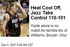 Heat Cool Off, Jazz Take Control 110-101