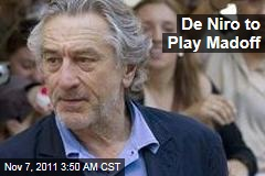 Robert De Niro to Play Bernie Madoff