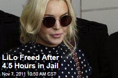 Lindsay Lohan Released After Less Than Five Hours in Jail