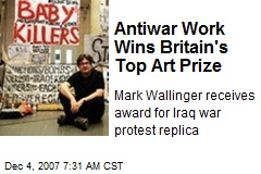 Antiwar Work Wins Britain's Top Art Prize
