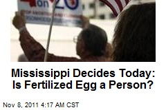 Mississippi Split on Personhood Vote