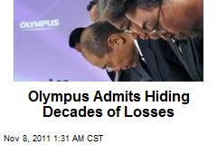 Olympus Admits Hiding Decades of Losses