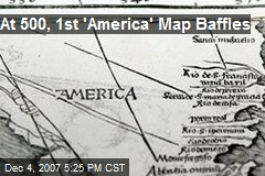 At 500, 1st 'America' Map Baffles