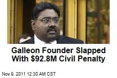 Raj Rajaratnam Slapped With $92.8M Civil Penalry