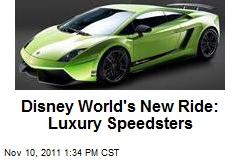 Disney World's New Ride: Luxury Speedsters