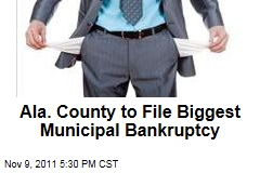Alabama's Jefferson County Votes to File Biggest Municipal Bankruptcy in US History
