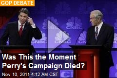 Was This the Moment Perry's Campaign Died?