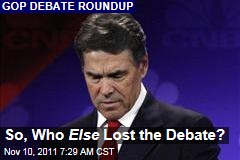 Rick Perry, Herman Cain, and Others Losers in CNBC Debate
