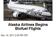 Alaska Airlines Begins Biofuel Flights
