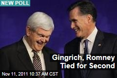 Election 2012: New Poll Shows Newt Gingrich, Mitt Romney Tied for Second Behind a Damaged Herman Cain