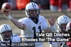 Yale Quarterback Patrick Witt Chooses to Play Harvard Game Over Rhodes Scholarship