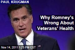 Paul Krugman: Why Mitt Romney's Wrong About Vouchers for Veterans