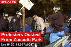 Protesters Ousted From Zuccotti Park