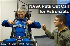 NASA Puts Out Call for Astronauts