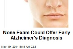 Nose Exam Could Offer Early Alzheimer's Diagnosis