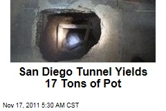 San Diego Tunnel Yields 17 Tons of Pot