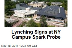 Lynching Signs at NY Campus Spark Probe