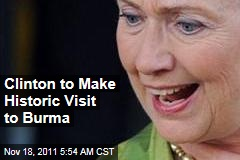 Hillary Clinton to Visit Burma, Aung San Suu Kyi to Rejoin Politics