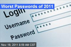Worst Passwords of 2011