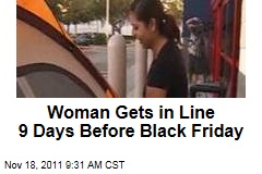 Florida Woman Gets in Line at Best Buy 9 DaysBefore Black Friday