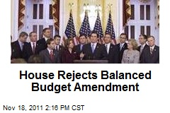 House Rejects Balanced Budget Amendment