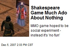 Shakespeare Game Much Ado About Nothing