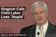 Newt Gingrich Calls Child Labor Laws 'Stupid,' Wants Teenagers Hired as Janitors