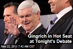 Election 2012: Newt Gingrich in Spotlight at Tonight's GOP Debate