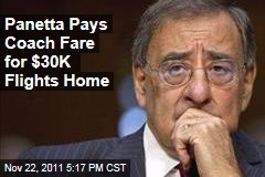 Defense Secretary Leon Panetta Pays Coach Fare for $30K Flights Home