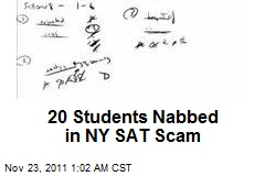 20 Students Nabbed in NY SAT Scam