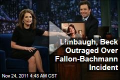 VIDEOS: Rush Limbaugh, Glenn Beck Outraged Over Michele Bachmann Intro Song Incident on 'Late Night With Jimmy Fallon'