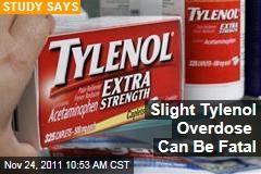 Tylenol Study: Slight Acetaminophen (Paracetamol) Overdose Can Be Fatal