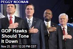 Peggy Noonan on GOP Debate: Hawkish Candidates Should Tone It Down