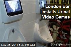 London Bar Installs Urinal Video Games