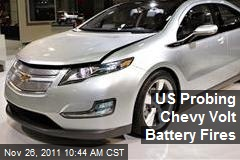 US Probing Chevy Volt Battery Fires