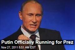 Vladimir Putin Nominated to Run for Russian President