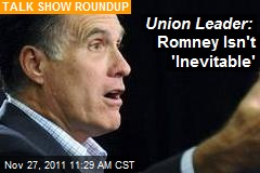 Union Leader: Romney Isn't 'Inevitable'