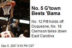 No. 5 G'town Bests 'Bama